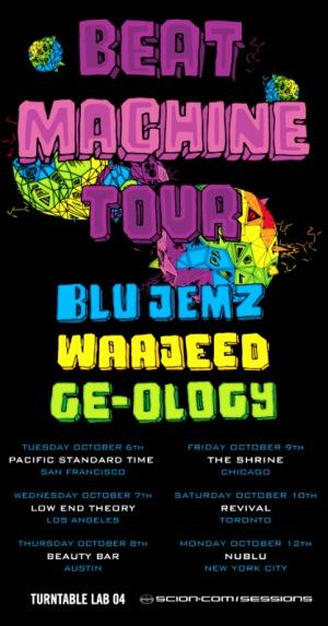 Beat Machine tour flyer